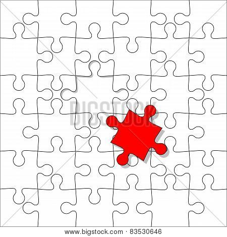 Background Vector Illustration jigsaw puzzle. Separately with on