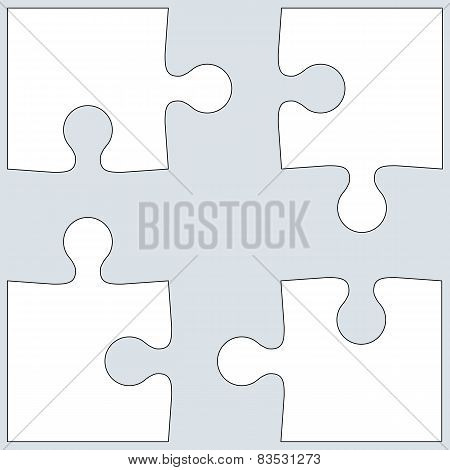 Background Vector Illustration jigsaw puzzle. white on gray