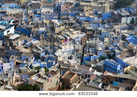 View Of Jodhpur, The Blue City, From Mehrangarh Fort