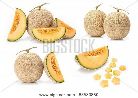 Japanese yellow melon fruit