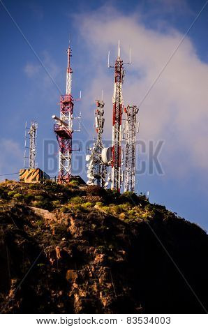 White and Red Antennas