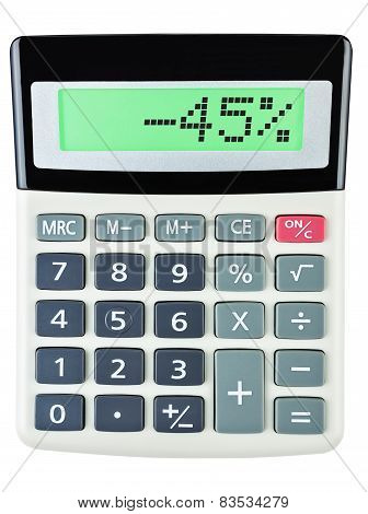Calculator With -45