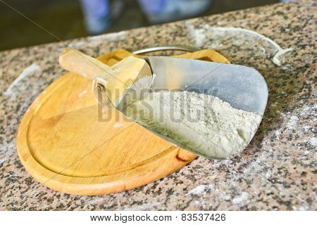 Shovel With Wheaten Flour