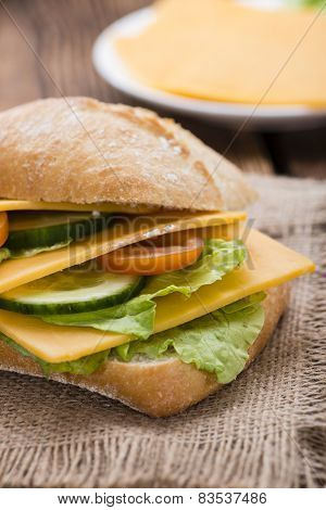 Fresh Made Cheddar Sandwich