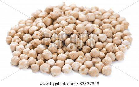 Chick Peas Isolated On White