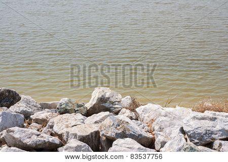 Stones At Riverbank