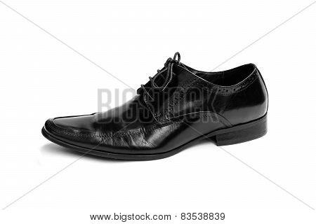 Single Black Leather Shoe