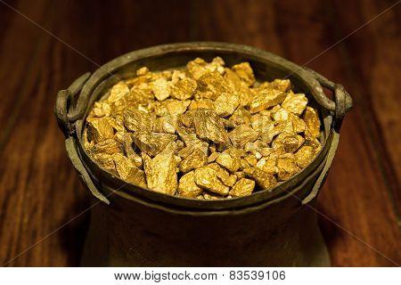 Gold Treasure In A Copper Kettle