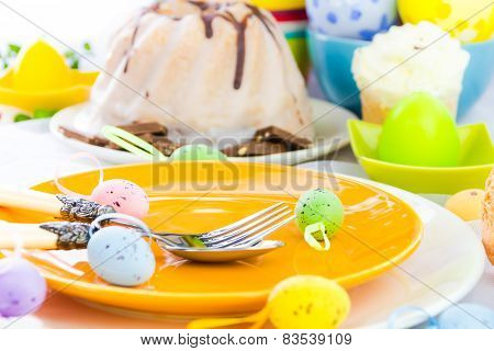 Tableware One Person Easter Table