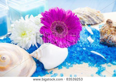 Spa Set Bath Salt Flowers