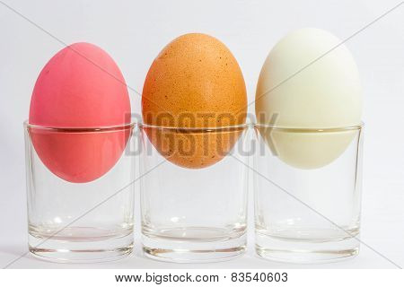Preserved Duck Eggs,salted Egg And Egg On White Background