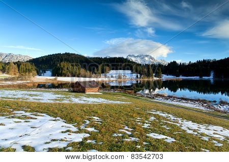 Alpine Meadow By Geroldsee Lake