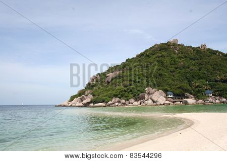 Scenic Views Of The Coastline Of Island Nang Yang