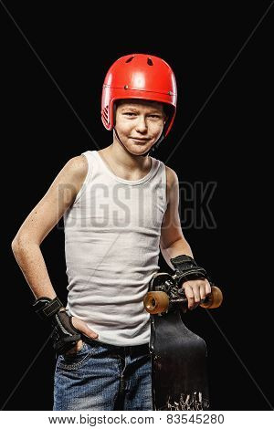Redhead With Skateboard