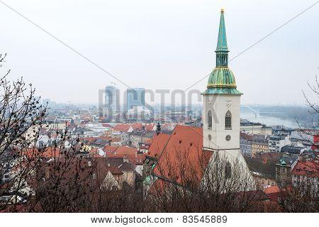 Bratislava Cityscape & St. Martin's Cathedral, Slovakia