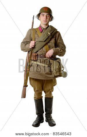 Soviet Soldier In 1941