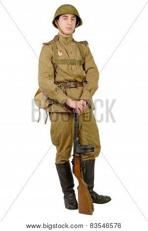 Soviet Soldier In Wwii