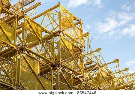 Steel Frame Of Old Cranes