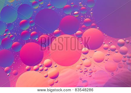 Psychedelic oil and water abstract