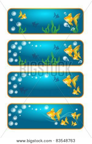 Banners With Goldfish