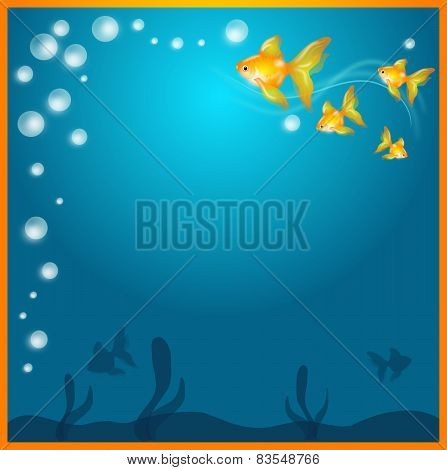 Background With Goldfish