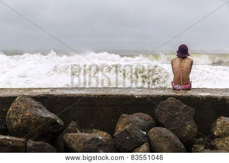 King tides at Currumbin Rock Gold Coast, Australia