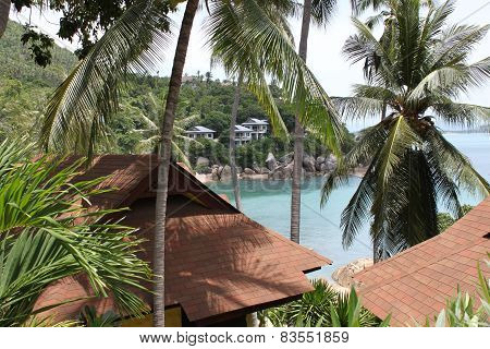 Bungalow Of The Island Of Koh Samui, Thailand