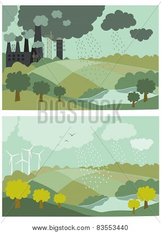 Ecology Concept Vector Illustration for Environment
