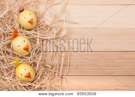 Two Easter Egg Chicks