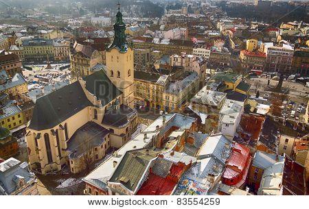 Top view of  Lviv