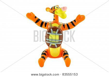 Tigger Tiger Toy Character From Disney Winnie The Pooh Cartoon.