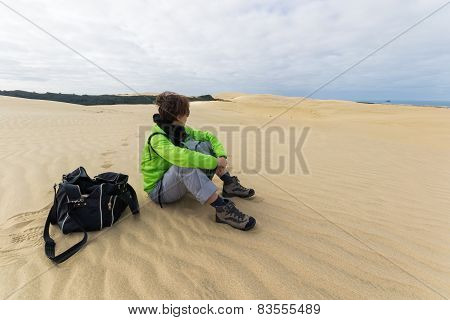 Contemplation On The Sand Dunes