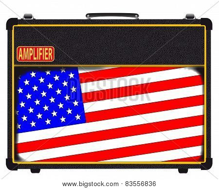 USA Flag Rock Amplifier