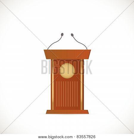 Wooden Podium Illustration