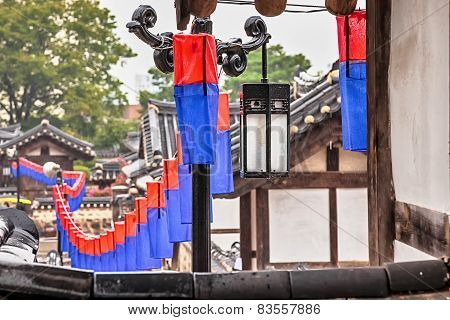 Traditional Korean Street Lamp