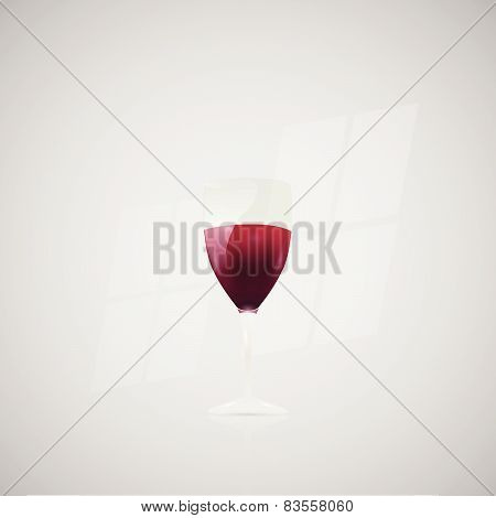 Wine Glass Illustration