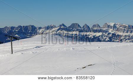 Ski Lift And Churfirsten