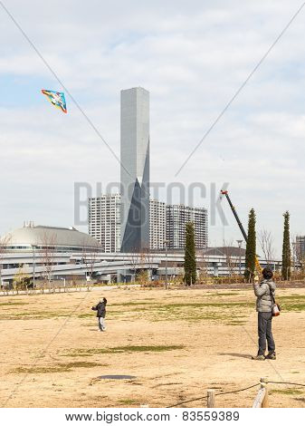 Flying A Kite In The Park