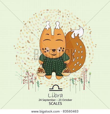 Zodiac sign - Libra, Scales.