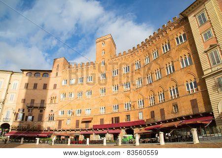Piazza del Combo  Siena  Tuscany  Italy
