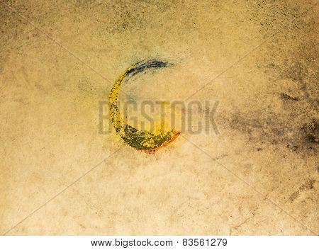 Korean Ritual Drumhead Background