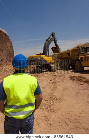 Work In A Quarry