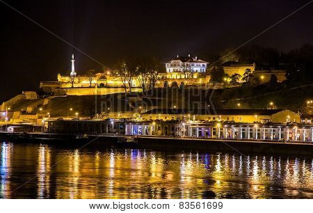 View Of Belgrade Fortress Over The Sava River - Serbia