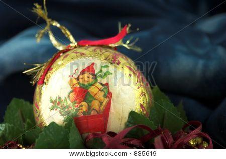 vintage gold christmas  ball