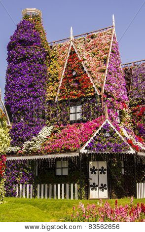 amazing house of flowers in the Miracle Garden park