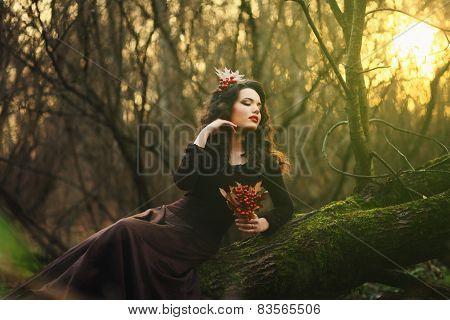 Romantic Brunette Posing