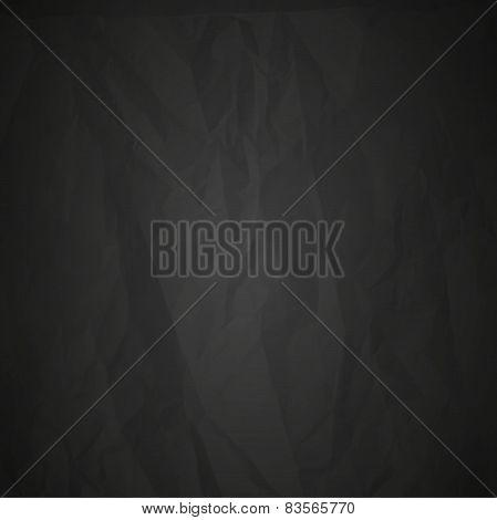 creased black paper