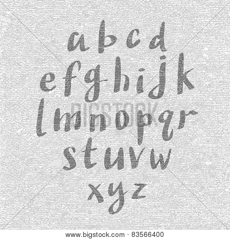 Hand Drawn And Sketched Font, Vector Sketch Style Alphabet.