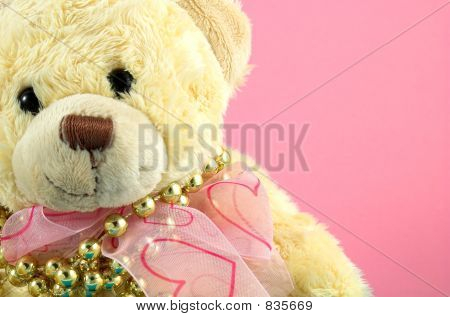 christmas bear and pearls