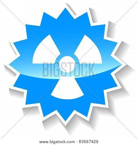 Nuclear blue icon